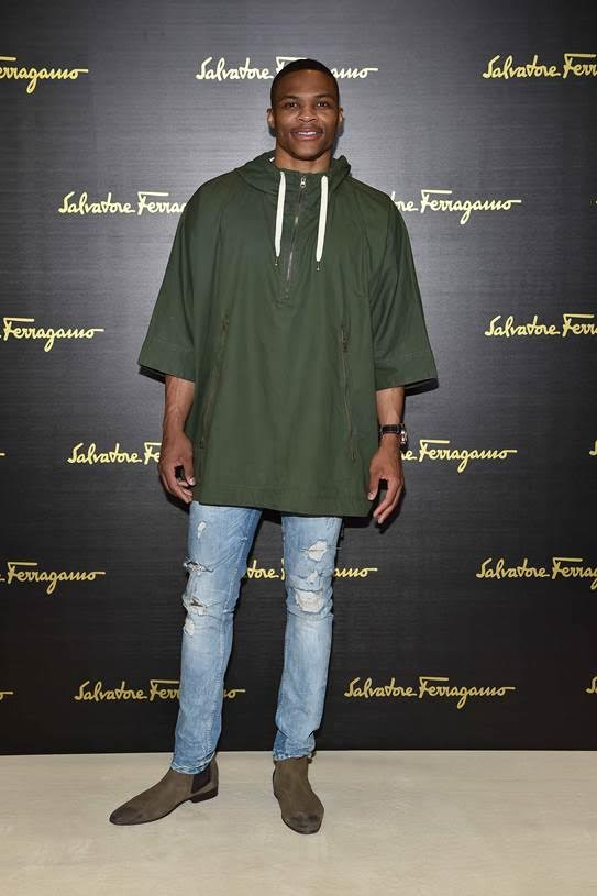 Russell-Westbrook-2015-Style-Poncho-Ripped-Denim-Jeans