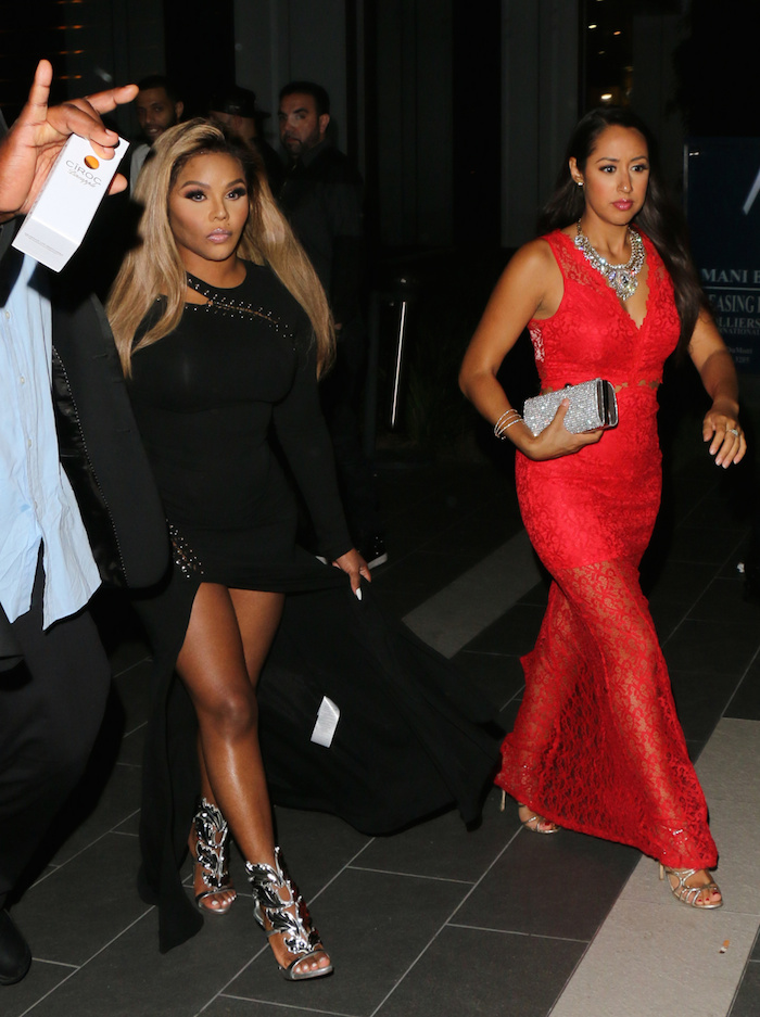 Lil' -Kim -seen- at -BOA- Steakhouse- in -LA