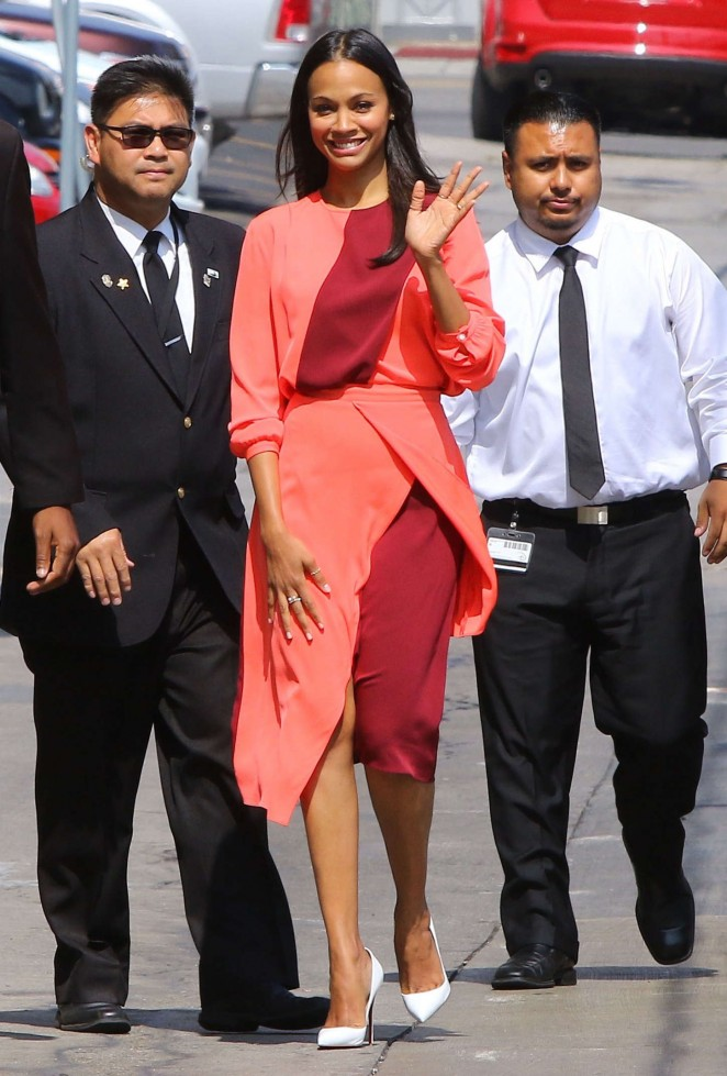 Zoe-Saldana--Arriving-at-Jimmy-Kimmel-Live--
