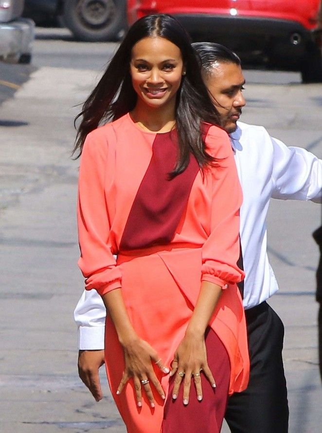 Zoe-Saldana--Arriving-at-Jimmy-Kimmel-Live-