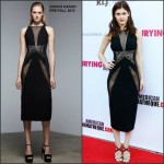 Alexandra Daddario in Donna Karan at the 'Burying The Ex' LA Screening