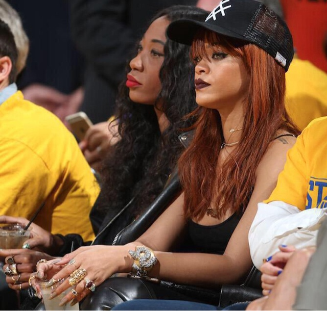 Rihanna attends - Oakland NBA Finals Game - Fashionsizzle