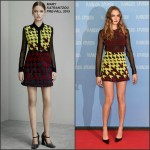Cara Delevingne in Mary Katrantzou at the Paper Towns' Berlin Photocall