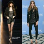 Cara Delevingne in Saint Laurent at the 'Paper Towns' London Photocall