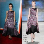 Carla Gugino In Lela Rose at  'Me and Earl and the Dying Girl' LA Premiere