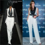 Cindy Crawford in Emanuel Ungaro at 'The Hospital In The Sky' premiere presented by OMEGA