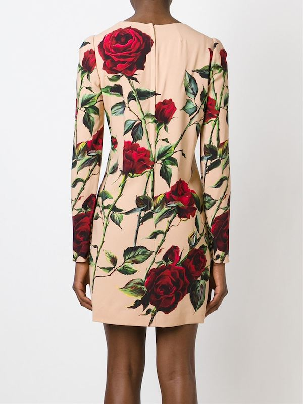 dolce-gabbana-rose-print-shift-dress-long-sleeve-back
