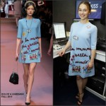 Emilia Clarke In Dolce & Gabbana at Kiss FM