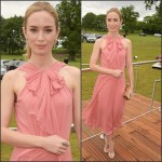Emily Blunt In Jenny Packham  at  Audi Polo Challenge