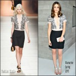Emmy Rossum In Blumarine  at  Vogue 120 Fetes LA