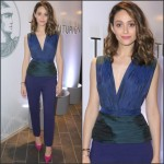 Emmy Rossum In Vionnet  at American Express Celebrates The Opening Of The Centurion Lounge