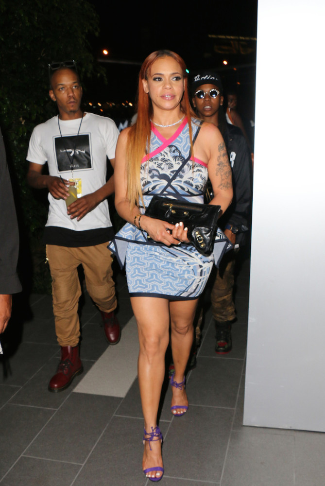 Faith Evans seen at BOA Steakhouse in LA