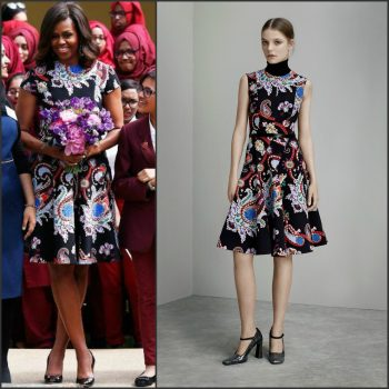 first-lady-michelle-obama-in-Mary-katrantzou-at-mulberry-school-for-girls-london