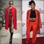 Janelle Monae in Tracy Reese & Vatanika at the 2015 Gordon Parks Foundation Awards Dinner & Auction