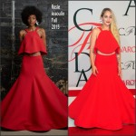 Jemima Kirke in  Rosie Assoulin  at the 2015 CFDA Fashion Awards