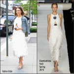 Jessica Alba In Giambattista Valli  Out In New York City