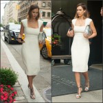 Jessica Alba In Narciso Rodriguez – Out In New York City