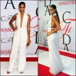 Joan Smalls in   Calvin Klein Collection  at  the 2015 CFDA Fashion Awards