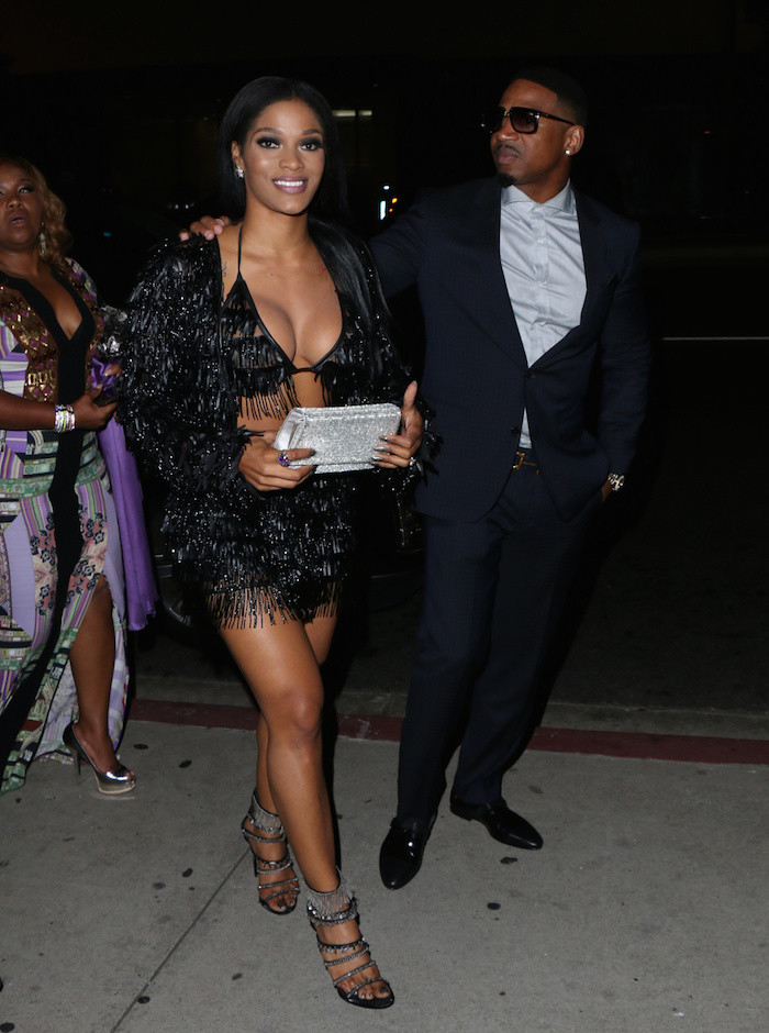 Joseline- Hernandez- and - Stevie -J - badboy-dinner-Steakhouse in LA