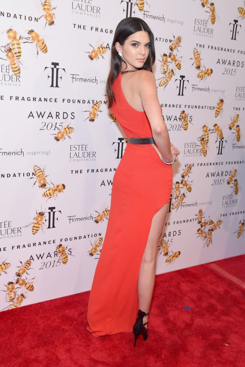 Kendall Jenner in Halston Heritage 2015 Fragrance Foundation Awards in NYC