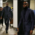 LeBron James Arrives for Game 1 of The NBA Finals  in Tom Ford and Ralph Lauren