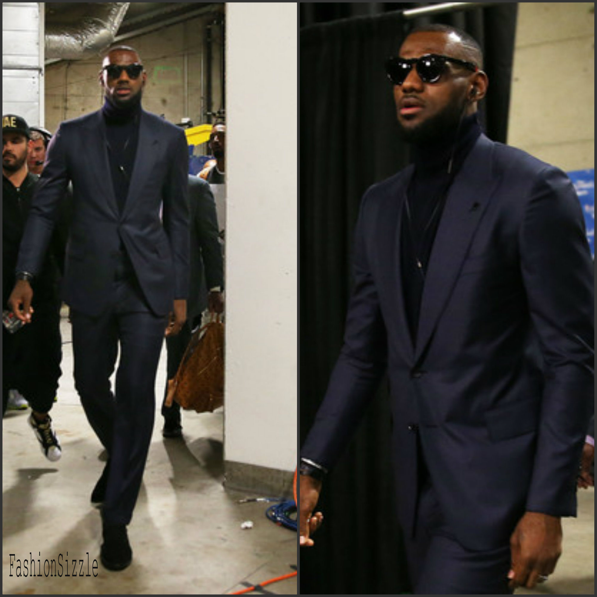 LeBron James Arrives for Game 1 of The NBA Finals in Tom Ford and Ralph Lauren - Fashionsizzle