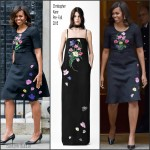 FLOTUS Michelle Obama in  Christopher Kane Out in London