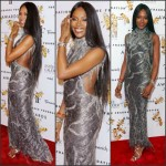 Naomi Campbell in Atelier Versace at the  2015 Fragrance Foundation Awards