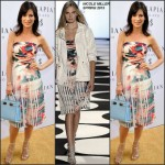 Perrey Reeves in Nicole Miller   at the Serapian Milano Beverly Hills Opening