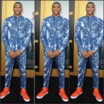 Russell  Westbrook  in  Dsquared2   Denim  at  Entourage Los Angeles Premiere