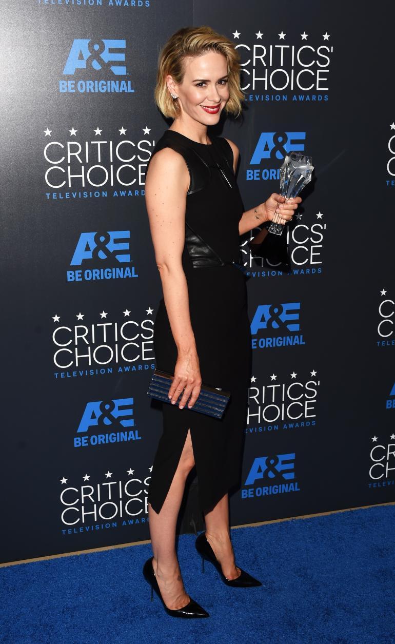Sarah Paulson in Prabal Gurung at the 2015 Critics' Choice Television Awards