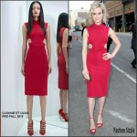 Taylor Schilling in Cushnie et Ochs at the 'Orangecon' Fan Event