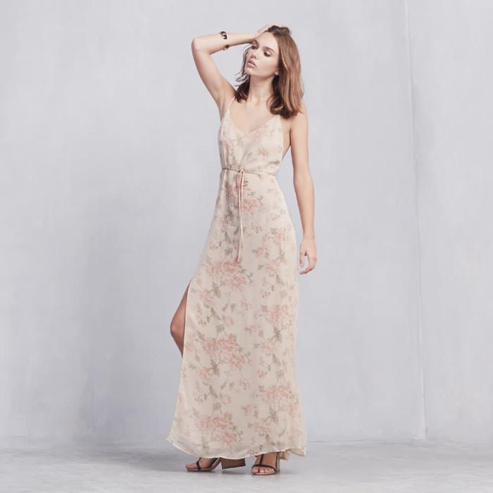 Rihannas-Mercer-Kitchen-Reformation-Floral-Dress-and-Prada-Gold-Sandals