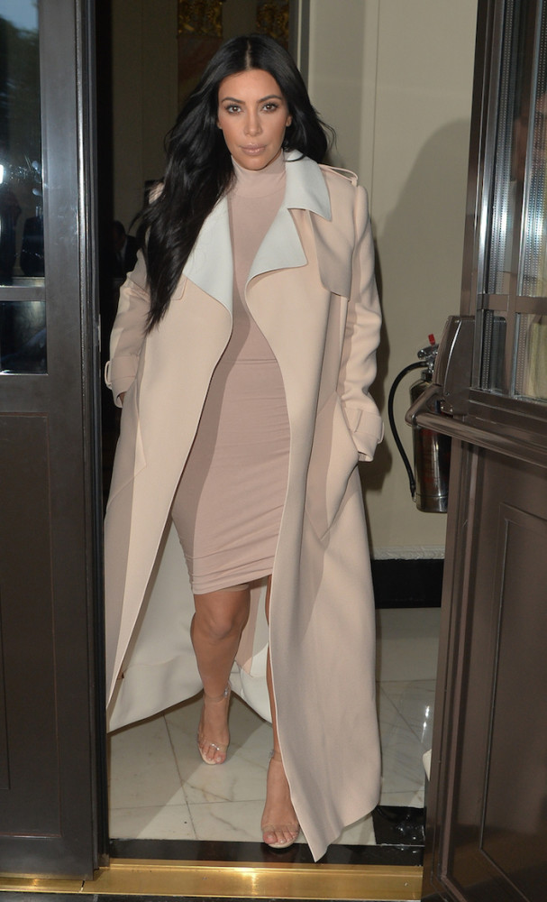 Kim Kardashian seen leaving her hotel in London