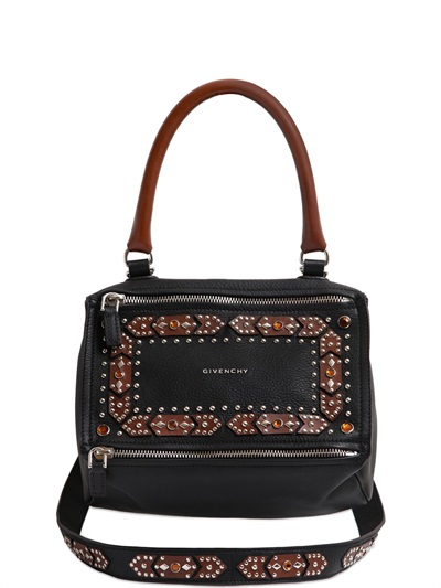Beyonce-New-York-Givenchy-Black-and-Brown-Pandora-Satchel-Bag