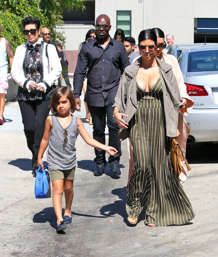 Kourtney-Kardashians-LA-Family-Outing-Just-Enaj-ESQ-Striped-Black-Bralette-and-Wide-Legged-Pants