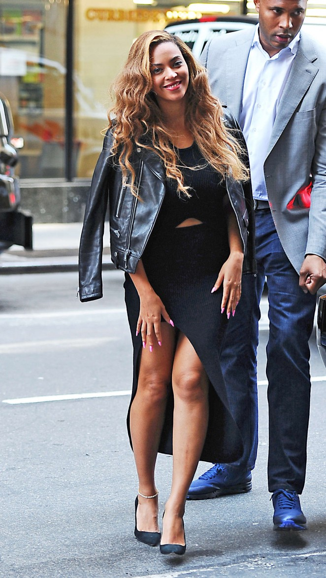 Beyonce In Self Portrait Out In New York Fashionsizzle