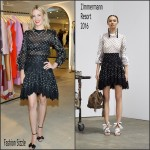 January Jones in Zimmermann – Zimmermann Melrose Place Flagship Store Opening