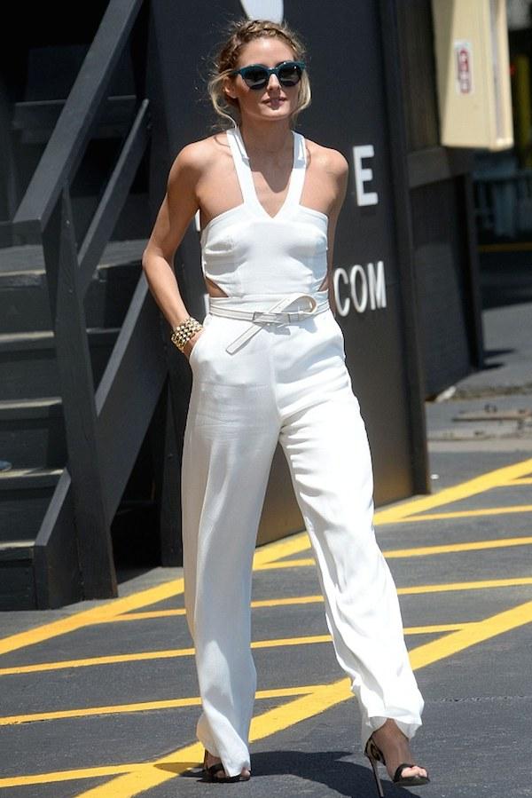 Olivia-Palermo-white-lovers-friends-cut-out-jumpsuit-francesco-russo-leopard-open-toe-sandals