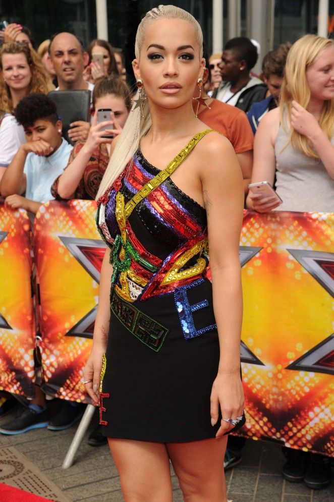 Rita-Ora-in- versace-X-Factor-Auditions-