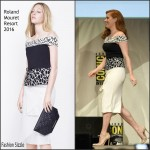Amy Adams In Roland Mouret at Batman v. Superman: Dawn of Justice' Comic Con 2015 Panel