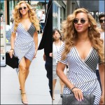Beyonce  in Romeo Hunte dress –  New York City