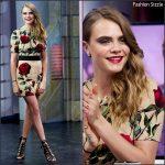 Cara Delevingne in Dolce & Gabbana on the 'El Hormiguero' TV Show