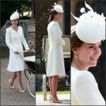Catherine, Duchess of Cambridge In Alexander McQueen at Princess Charlotte's Christening