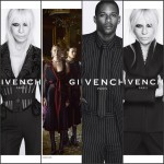 DONATELLA VERSACE, CANDICE SWANEPOEL , AND VICTOR CRUZ IN GIVENCHY  FALL ADS