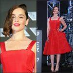 Emilia Clarke In Christian Dior  at  'Terminator Genisys' Tokyo Premiere