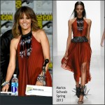 "Halle Berry in  Marios Schwab  at the CBS TV Studios' panel for ""Extant"""