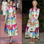 Helen Mirren In  Dolce & Gabbana – 2015 Ischia Global Film & Music Fest