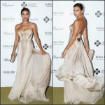 Irina Shayk  in Versace – Leonardo DiCaprio Foundation 2nd Annual Saint-Tropez Gala