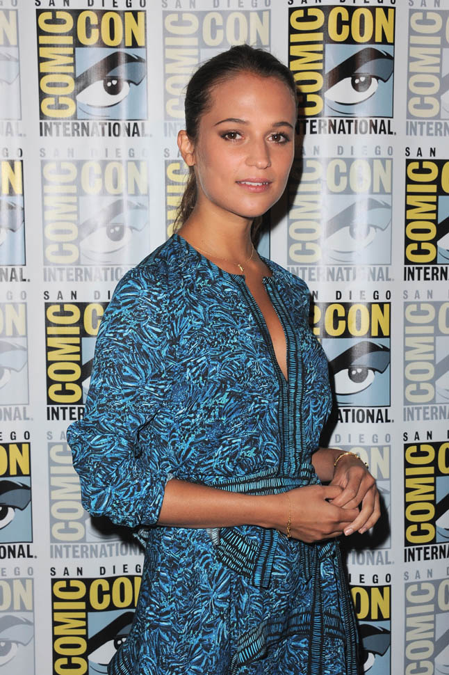 SAN DIEGO, CA - JULY 11: Actress Alicia Vikander attends the Warner Bros. 'The Man from U.N.C.L.E.' presentation during Comic-Con International 2015 at the San Diego Convention Center on July 11, 2015 in San Diego, California. (Photo by Albert L. Ortega/Getty Images)